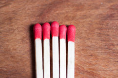 Close-up of matches. A photo of some matches Stock Photos