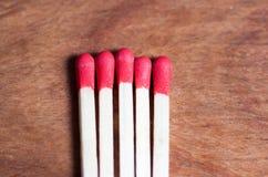 Close-up of matches Stock Photos