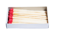 Close-up of matches Stock Photography