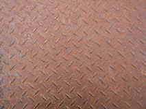 Close up of material floor brown steel rust background. Royalty Free Stock Photo