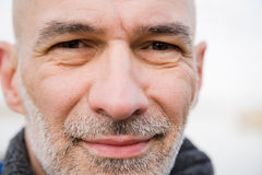 Close up of a mature mans face Royalty Free Stock Images