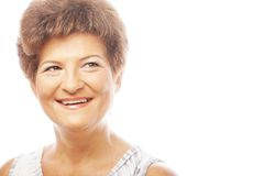 Close-up of a mature woman smiling Royalty Free Stock Photos