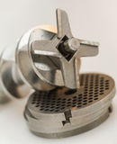 Close-up of meat grinder part Stock Image