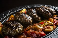 Close up meatballs stock photography