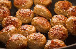 Close-up of meatballs Royalty Free Stock Photography