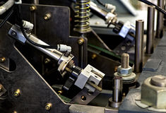 Close up Mechanical Printing Machine at the Office Royalty Free Stock Image