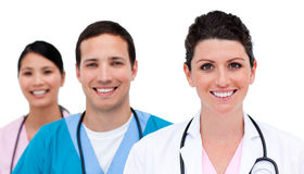 Close-up of medicam team Royalty Free Stock Photography