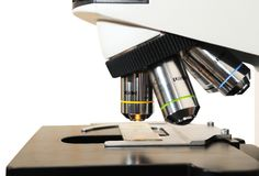 Close-up medicine microscope Stock Image