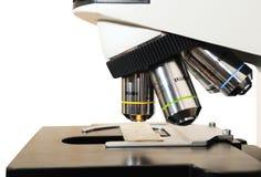 Close-up medicine microscope Stock Image