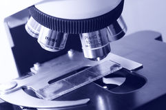 Close-up medicine microscope Royalty Free Stock Photo