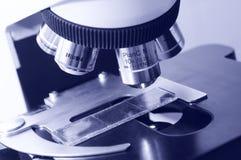 Close-up medicine microscope Royalty Free Stock Photo