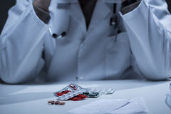 Close-up of medicines Royalty Free Stock Image