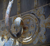 Close up medieval door handle Royalty Free Stock Photos