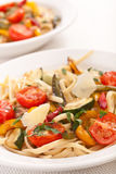 Close Up of Mediterranean Vegetable Pasta Royalty Free Stock Photography