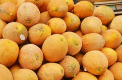 Close up of melons on market stand Stock Images