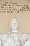 Close-up memorável de Lincoln, Washington DC EUA Imagens de Stock Royalty Free