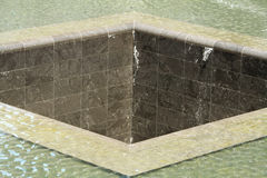 Close up of a Memorial Pool in New York City Stock Image