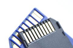 Close-up memory cards Stock Photo