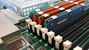 Close up memory socket Royalty Free Stock Photos