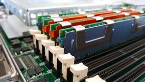Close up memory socket Stock Images