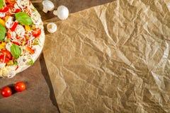 Close-up of the menu for pizzerias No. 5 royalty free stock photo