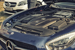 Close up on Mercedes AMG engine Stock Photography