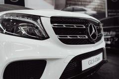 Close up Mercedes Benz logo stock image