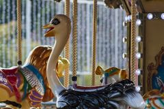 Close-up of Merry-go-Round Carousel royalty free stock photo