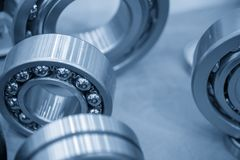 Close-up of the metal ball  bearing. Close-up of the metal ball  bearing,explore the rolling bearing Stock Photos