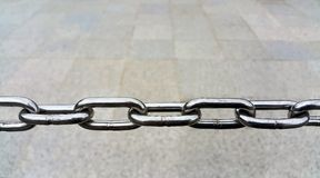 Close up of Metal chain links Stock Image