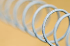 Close up of metal coil Royalty Free Stock Image