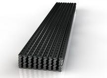 Close up of metal drywall profiles 3D render.  Stock Photos