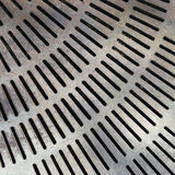 Close up metal grate drain Stock Images