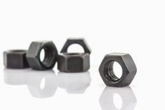 Close up Metal nuts. Stock Image
