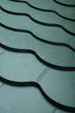Close up of metal roof tile Royalty Free Stock Images