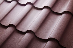 Close up of metal roof tile Stock Photo