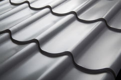 Close up of metal roof tile Stock Images
