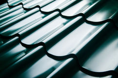 Close up of metal roof tile Stock Photos