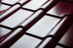 Close up of metal roof tile Royalty Free Stock Image