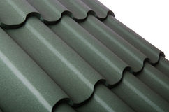 The close up of metal roof tile. Close up of metal roof tile stock photo