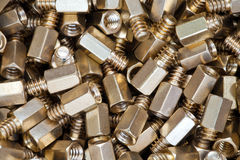 Close up of metal screws Royalty Free Stock Photo