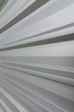 Close-up of metal sheet part of a roof. Close-up of a grey metal sheet Stock Photos