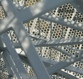 Close-up of a metal stairway. Close-up of the metal stairway of an observation tower royalty free stock image