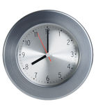 Close up of an metal style clock Royalty Free Stock Image