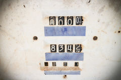 Close up of meter on old gas tank Stock Images