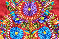 Close up of Mexican Embroidery design Royalty Free Stock Photos