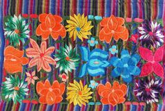 Close up of Mexican Embroidery design Royalty Free Stock Photography