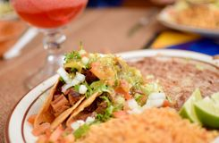 Close up Mexican Food  Taco Plate stock images