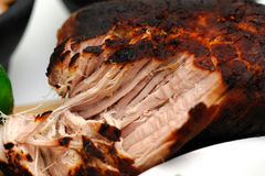 Close-up Of Mexican Pork Carnitas. A browned pork roast pulled apart cooked in the Mexican style for the dish known as carnitas Royalty Free Stock Photo