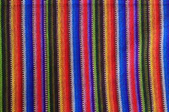Close up of Mexican stiped fabric royalty free stock image